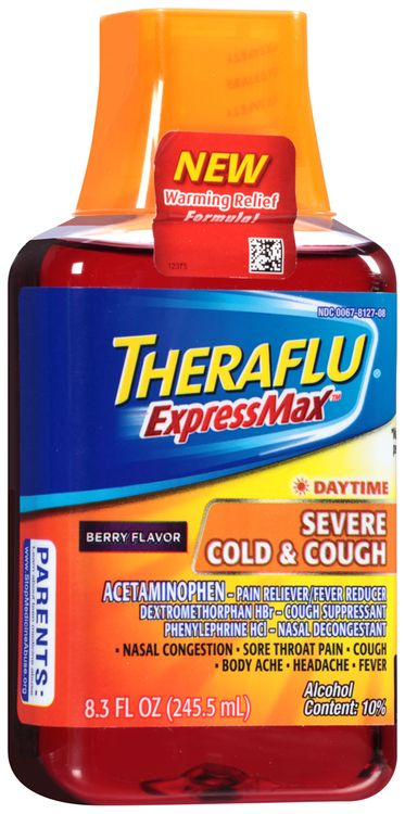 Theraflu® ExpressMax™ Daytime Berry Flavor Severe Cold & Cough Liquid