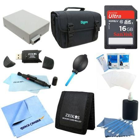 Special Fully Loaded Value 16GB Card & LP-E8 Kit for Canon Rebel T5I, T4i, T3i & T2i