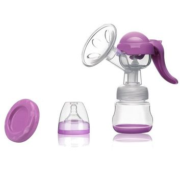 Minhouse Breastfeeding pump - Manual Breast Pump with Lid - 100% Food Grade BPA Free FDA Medical Silicone Breast Milk Collector - Milk Saver Fits All Breast Sizes Easy to Use