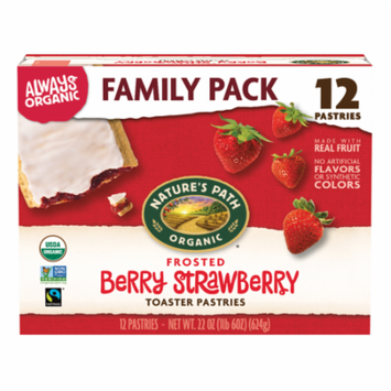 Nature's Path Organic Toaster Pastries, Frosted Berry Strawberry, 12 Ct