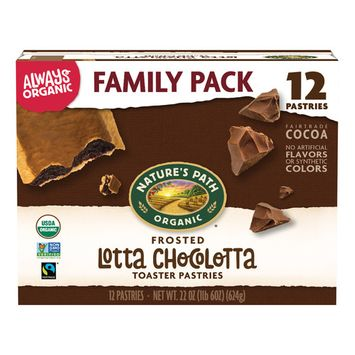 Nature's Path Organic Toaster Pastries, Frosted Lotta Chocolotta Chocolate, 12 Ct