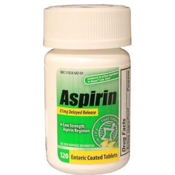 Adult Low Dose 81mg Aspirin Case Pack 24 - 685490 by WMU