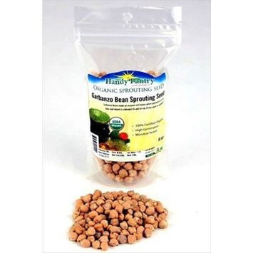 Dried Garbanzo Beans- Organic- 8 Oz (1/2 Lbs) - Handy Pantry Brand - Dry Garbonzo Bean / Seeds- For Planting Seed, Gardening, Hummus, Cooking, Food Storage, Sprouts