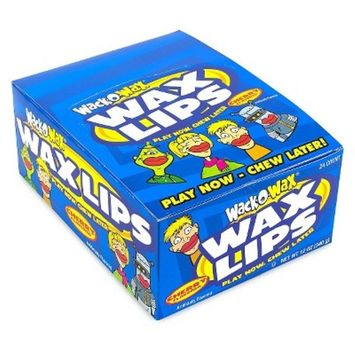 Concord Wack-O-Wax Lips Candy, .5-Ounce Units (Pack of 24)