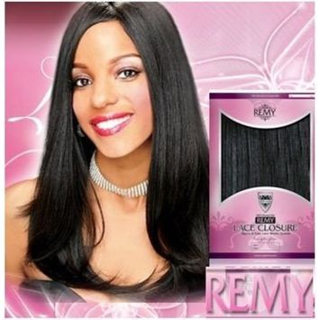 Hollywood 100% Human Hair Remy Lace Closure 12