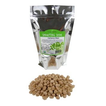 Dried Garbanzo Beans- Organic Sprouting Seeds - 1 Lbs - Handy Pantry Brand - Dry Garbonzo Bean / Seeds - For Planting, Gardening, Hummus, Cooking, Food Storage, Sprouts