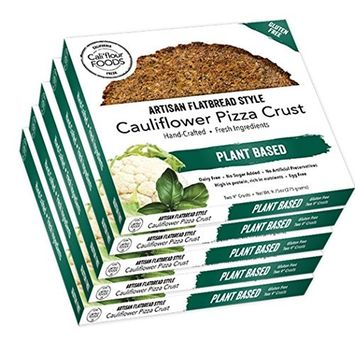 Cali'flour Foods Paleo Plant-Based Cauliflower Pizza Crusts - Gluten & Dairy Free, Vegan - Italian Flavor (10 Total Crusts, 2 Per Box)