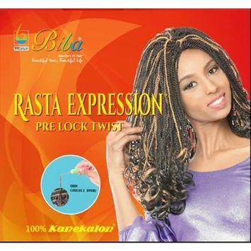 Biba Rasta Expression Pre Lock Twist (#1B(Off Black))