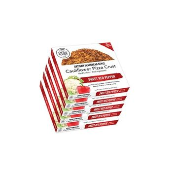 Cali'flour Foods Gluten Free, Low Carb Cauliflower Sweet Red Pepper Pizza Crusts - 5 Boxes - (10 Total Crusts, 2 Per Box)
