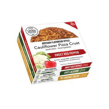 Cali'flour Foods Gluten Free, Low Carb Cauliflower 2 Original Italian Pizza Crusts, 2 Spicy Jalapeno Pizza Crusts, 2 Sweet Red Pepper Pizza Crusts - 3 Boxes - (6 Total Crusts, 2 Per Box)