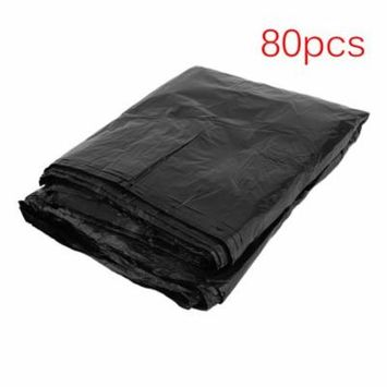 CNMODLE 80pcs 33 Gallon Thicken Indoor Outdoor Can Heavy Garbage Rubbish Bag Trash Bag Set Household Cleaning Tool