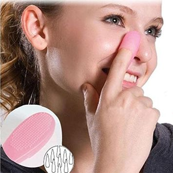 Hunputa Nose Blackhead Acne Makeup Remover Skin Facial Pore Cleaner - - Silicone Deeply Cleansing Blackhead Removal Brush