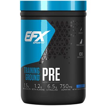 All American Efx Sports EFX Sports Training Ground PRE Workout Increase Weight Lifting Size(20 Servings) Blueberry
