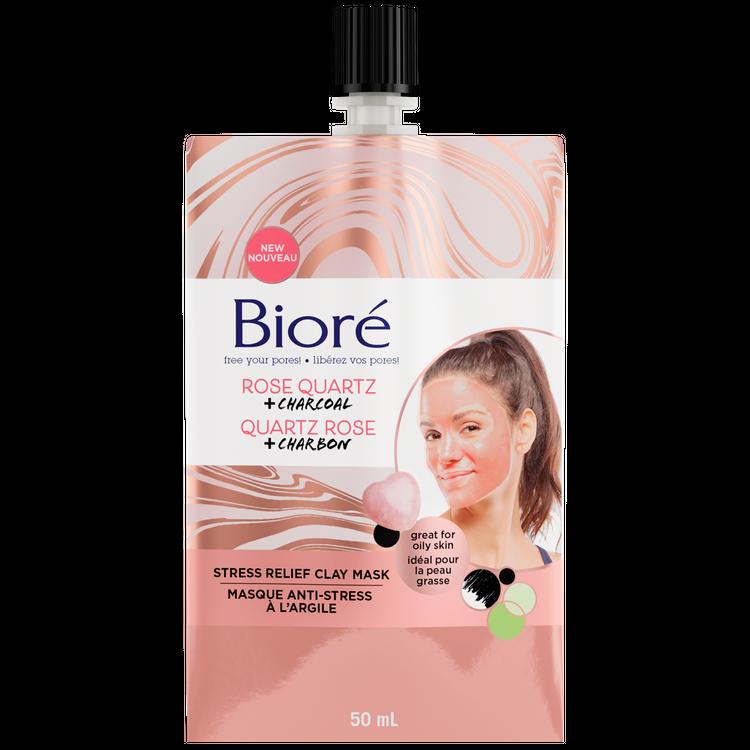 Bioré® Rose Quartz + Charcoal Stress Relief Clay Mask