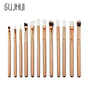 Iuhan 12PCS Make Up Foundation Eyebrow Eyeliner Blush Cosmetic Concealer Brushes (G