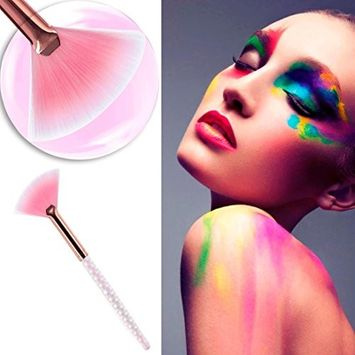 Iuhan 1Pcs Pro Fan Brush Make Up Foundation Cosmetic Concealer Brushes Beauty Tool