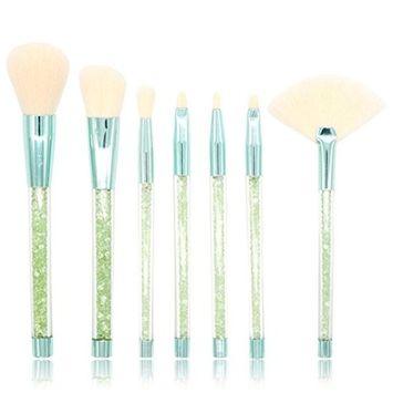 Makeup Brushes, Iuhan 7Pcs Diamonds Makeup Brush Set Eye Shadow Brush Cosmetics Blending Brush Tool