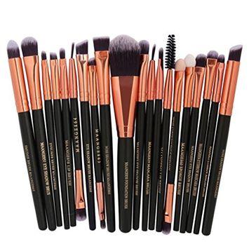 Iuhan Hot Sale! 20Pc Makeup Brushes Set Powder Foundation Eyeshadow Eyeliner Lip Cosmetic Brush