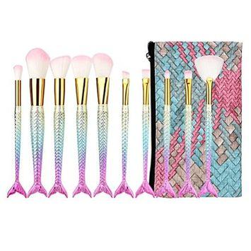 Makeup Brushes, Iuhan 7Pcs/10Pcs/11Pcs Make Up Foundation Eyebrow Eyeliner Blush Cosmetic Concealer Brushes