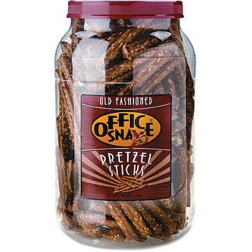 Office Snax 00083 Pretzel Assortment Sticks 40 oz Tub