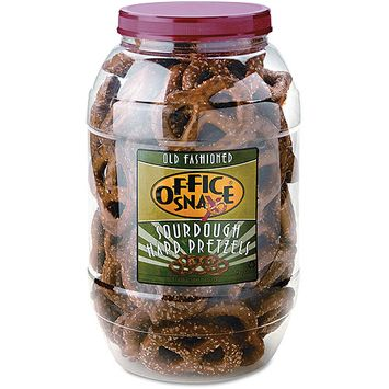Office Snax Old Fashioned Sourdough Hard Pretzels, 40 oz