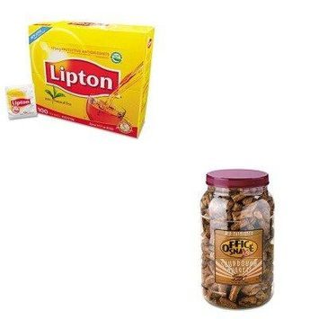 KITLIP291OFX00080 - Value Kit - Office Snax Pretzel Assortment (OFX00080) and Lipton Tea Bags (LIP291)
