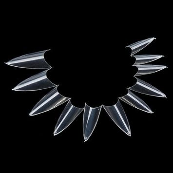 500pcs Clear False Sharp Ending Stiletto Acrylic Nail Art Design Tips Salon Hot