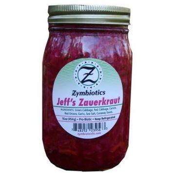 Jeffs Zauerkraut, Naturally Fermented Sauerkraut (Zymbiotics) 16 oz