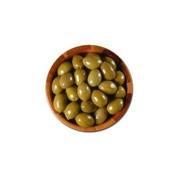 Deli Fresh Large Green Cracked Olives, 8oz Dr.Wt.