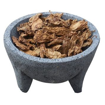 Whole Dried Chipotle Meco Chile 16 oz Resealable Bag ‐ El Molcajete Brand for Mexican Recipes, Tamales, Salsa, Chili, Meats, Soups, Stews & BBQ