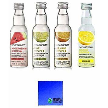 SodaStream Fruit Drops 4 Pack - Watermelon, Lime, Orange, Grapefruit