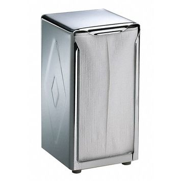 Countertop-Mount Tall Fold Napkin Dispenser, 150 Capacity, Chrome