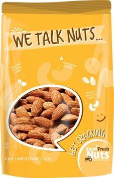Raw Almonds - Premium Freshness & Super Crunchy - By Farm Fresh Nuts (1 LB)
