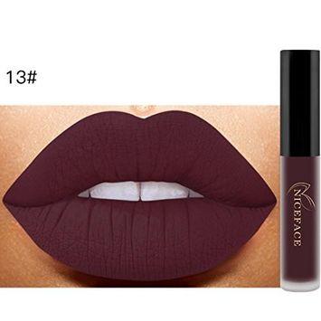 DZT1968 1pc Long-lasting emollient Lip Lingerie Matte Liquid Lipstick Waterproof Lip Gloss Makeup 26 Shades