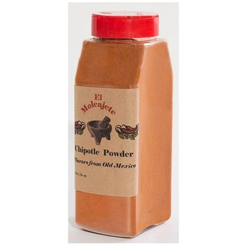 Meco Chipotle Powder 16oz for Sauces, Salsa, Pasta, Chili, Meat, Pizza, Potatoes, Vegetables, Soups, Stews, Chicken and BBQ