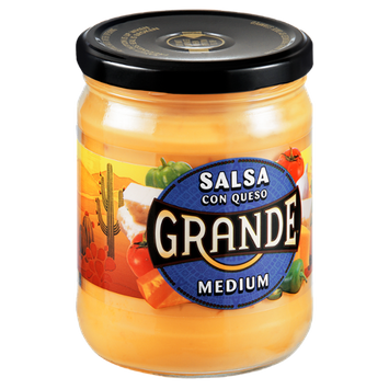 Grande Medium Con Queso Salsa