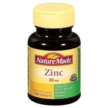 Nature Made Zinc 30 mg Tabs, 100 ct