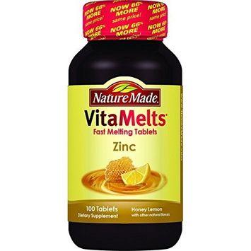 Nature Made Vitamelts Zinc Tablets, Honey Lemon, 100 Count(pack of 3)
