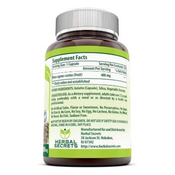 Herbal Secrets Vitex Fruit 400 Mg 250 Capsules