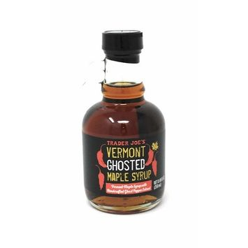 Trader Joe's - Ghosted Maple Syrup NET 8.45 FL OZ (250ml) - Vermont Maple Syrup With Handcrafted Ghost Pepper Extract