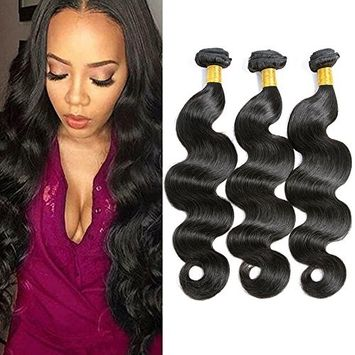 Brazilian Virgin Human Hair Body Wave 3 Bundles 100% Unprocessed Human Hair Weave Extensions Weft Natural Color