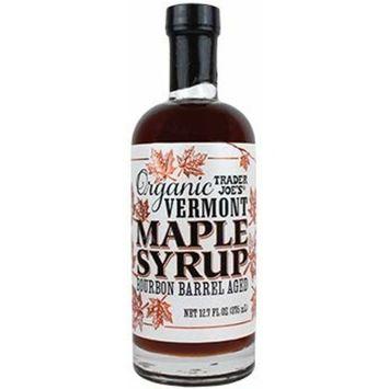 Trader Joe's - Organic Bourbon Barrel Aged Vermont Maple Syrup NET WT 12.7 (375 ml)