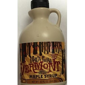 Trader Joe's 100% Pure Vermont Maple Syrup 32 fl oz. (4 Pack)