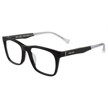 Police VPL056 Eyeglasses Shiny Black 700