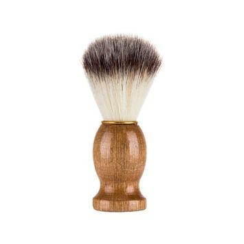 Men's Beard Brush Natural Boar Bristles Soft Brush Facial Shaving Care for Beards Mustache Grooming Styling