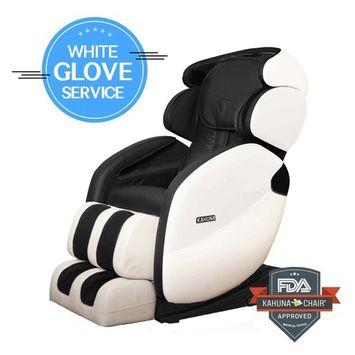 L-Track Premium Dynamic Target Spot kahuna Massage Chair LM-7000 - Ivory/Black WG