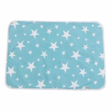 Washable Baby Changing Pad Mats Baby Cotton Urine Mat Diaper Nappy Bedding Changing Cover Pad(Dream stars )