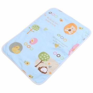Washable Baby Changing Pad Mats Baby Cotton Urine Mat Diaper Nappy Bedding Changing Cover Pad(Blue paradise)