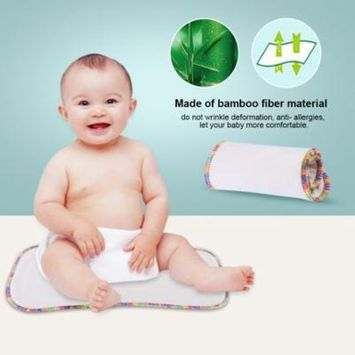 Washable Cloth Diaper Insert Bamboo Fiber Reusable Baby Diapers Overnight for Pocket Cloth Diapers