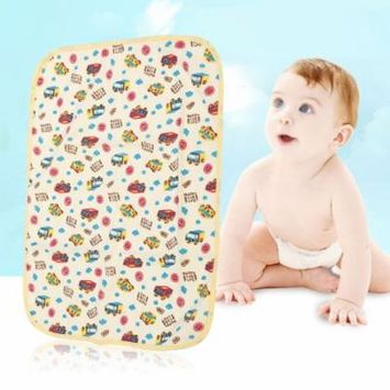 EECOO 5 Types Newborn Baby Changing Urinal Pad Waterproof Cotton Cloth Diaper Inserts Changing Mat Changing Mat Changing Pad